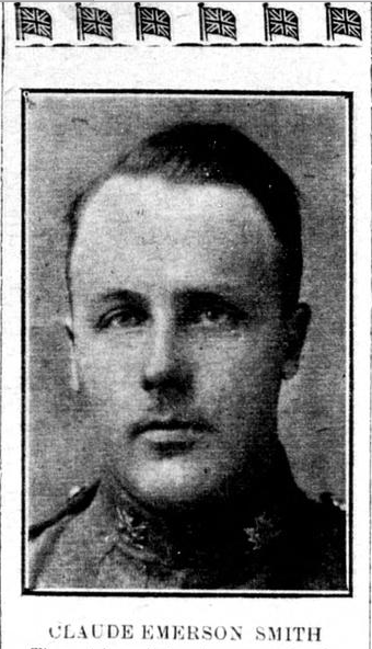 Photo of EMERSON CLAUDE SMITH– Remembered on the pages of the Flesherton Advance. Submitted for the project, Operation Picture Me