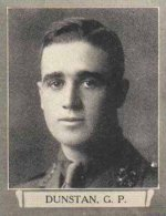 """Photo of Guy Peirce Dunstan– From """"The War Book of Upper Canada College"""", edited by Archibald Hope Young, Toronto, 1923.  This book is a Roll of Honour including former students who served during the First World War."""