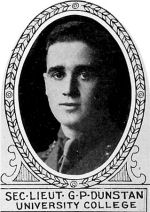 Photo of Guy Dunstan– From: The Varsity Magazine Supplement published by The Students Administrative Council, University of Toronto 1918.   Submitted for the Soldiers' Tower Committee, University of Toronto, by Operation Picture Me.