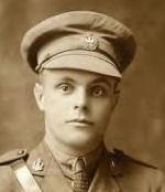 Photo of Herbert Charles Rounds– Lieutenant Herbert Charles Rounds. 111th Battallion [sic]. [Symbol of cross] August 26, 1918