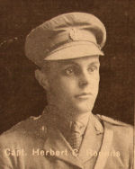 Photo of Herbert Charles Rounds– In memory of the men and women from the Waterloo area who went to war and did not come home. From the booklet, Peace Souvenir – Activities of Waterloo County in the Great War 1914 – 1918. From the Toronto Public Library collection.  Submitted for the project, Operation: Picture Me.