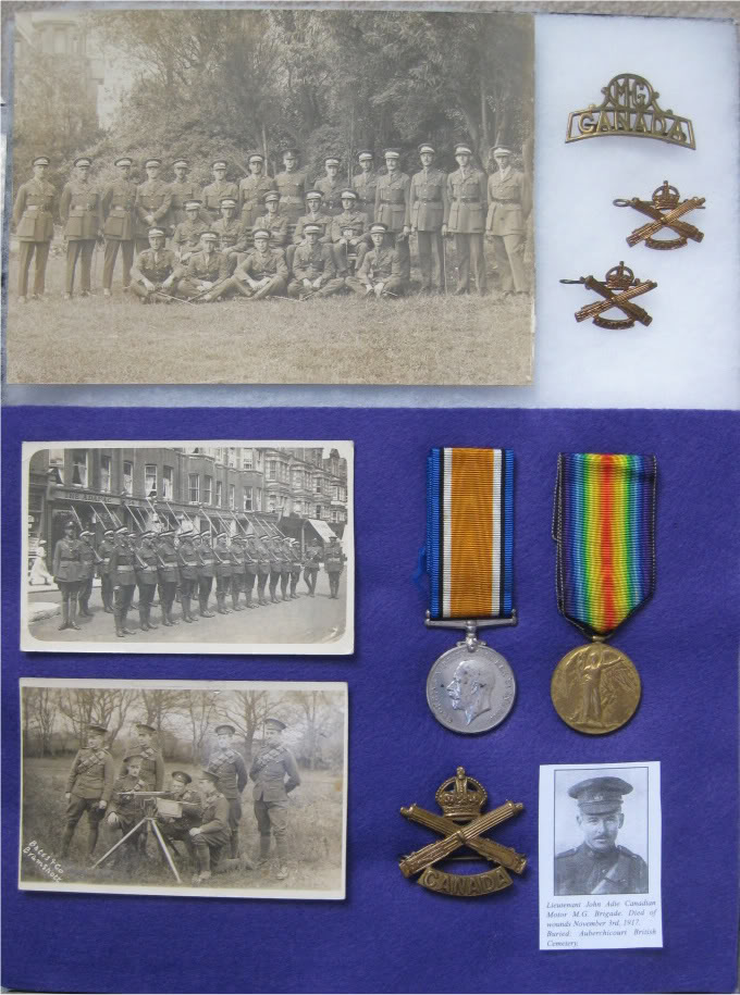 Collection of medals and original photographs related to Lieut. J. M. Adie CMGBde.