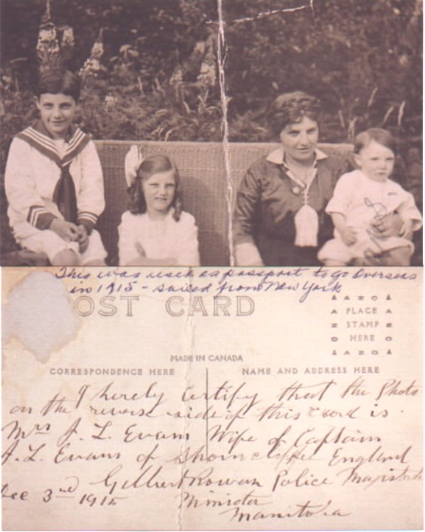 Photo of Evans family