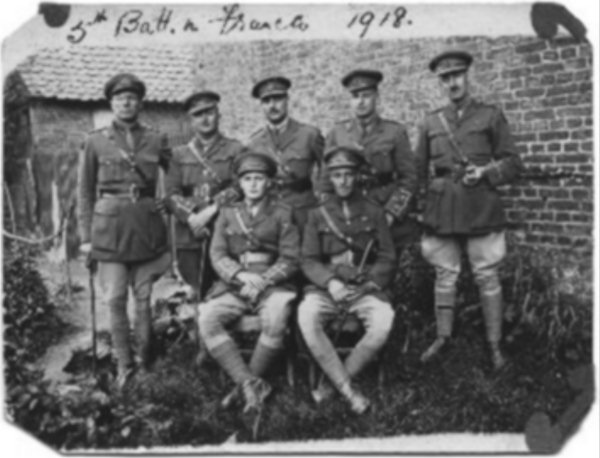 Officers of the 5th Battalion