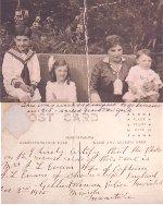 Photo of Evans family– Evans family; Edith (wife), Frank, Gladys, Eric.