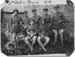 Officers of the 5th Battalion– Officers of the 5th Battalion, C.E.F., in France, 1918. J.L.Evans is back row, centre.