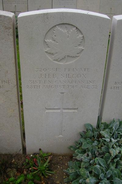 Grave Marker– Grave marker - Sun Quarry Cemetery … photo courtesy of Marg Liessens