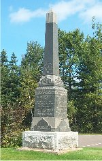 Hartsville War Memorial– This war memorial is located in Hartsville, Prince Edward Island.