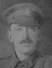 Photo of William Beattie– Pte William Beattie 142nd Btn --from the Christmas Echo December 1918 published in London Ontario -- And in the Morning