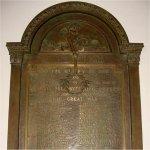 Commemorative Plaque– WWI Memorial Plaque located in the Victoria-Royce Presbyterian Church (est. 1885), 190 Medland St., Toronto, ON.