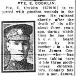 Newspaper Clipping– Pte. James Connaty is mentioned in this article about his brother-in-law.