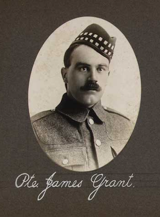 Photo of JAMES GRANT– In memory of the employees of the T. Eaton Company that went to war and did not come home.  Submitted for the project, Operation: Picture Me