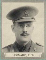 Photo of Edwin Woodman Leonard– From The War Book of Upper Canada College, edited by Archibald Hope Young, Toronto, 1923.  This book is a Roll of Honour including former students who served during the First World War.