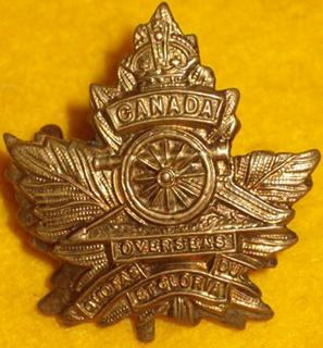 Badge– 537 Lt Col Edwin Woodman Leonard DSO (RMC 1901) was the son of Frank Leonard of 'Oakwood' in London, Ontario. He served with the Canadian Field Artillery, 3rd Bde. He was awarded the Distinguished Service Order, and Mentioned in Despatches. He died 9 Apr 1917. He was buried in the Lapugnoy Military Cemetery in Pas de Calais, France.