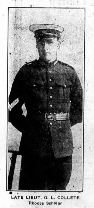 Photo of ARTHUR LEIGH COLLETT– From the Charlottetown PEI newspaper The Guardian. Submitted for the project, Operation: Picture Me