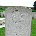 Gravestone– R. R. Morris's gravestone, Lapugnoy Military Cemetery, Pas-de-Calais, France.  Photo taken in 2002.