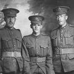Ronald Ray and his brother Ken– R. R. Morris (right) with his brother, Kenneth Earl Morris (left), and an unknown soldier (centre). Ken survived the war.