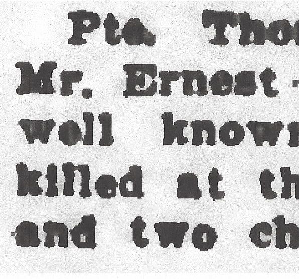 Newspaper clipping– From the Daily Colonist of April 26, 1917. Image taken from web address of http://archive.org/stream/dailycolonist59y118uvic#page/n0/mode/1up