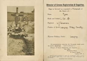 Formulaire d'enregistrement des tombes