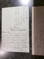 Post Card– Postcard from Clarence to his sister Plessa Myers.