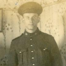 Photo of Clarence Odis Myers– Photo taken in his mother's parlor, Salmon River Bridge, Nova Scotia.