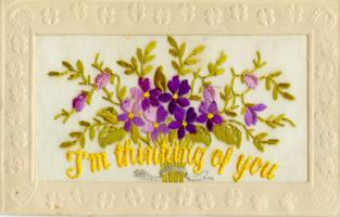 """Post Card– The front if the postcard Clarence sent to his sister Plessa on August 3rd, 1916.  It begins, """"Dear Sis, I know you'll never be able to answer all the mail I sent to you..."""""""