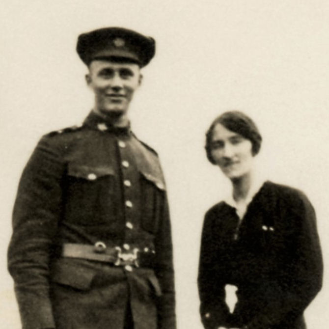 Group Photo– Clarence Odis Myers with friend in France.