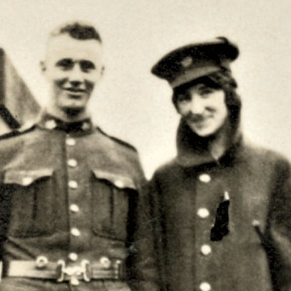 Group Photo– Clarence Odis Myers and friend in France.