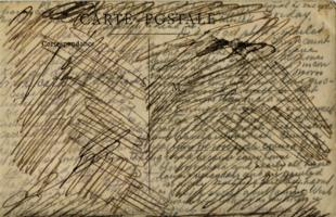 Post Card– Censored postcard from Clarence to his family.