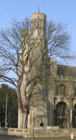 Church– This shows  the Abbey Church, Thorney  where the name of Percy Tompkins is commemorated.