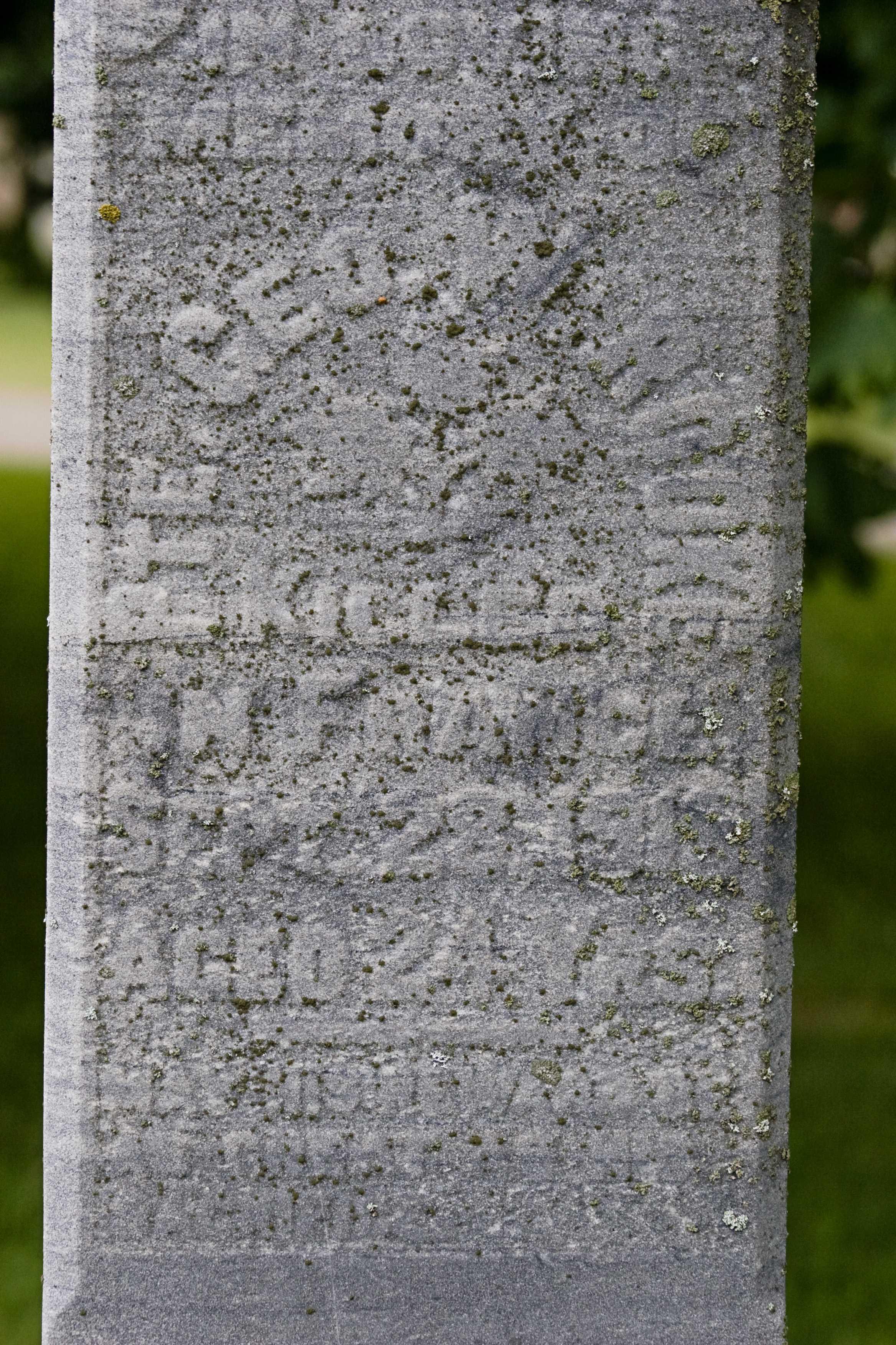 Memorial– grave in Nairn Cemetery Nairn Ontario