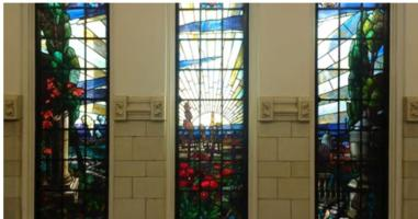 Memorial– McGill University, Anatomy and Dentistry building, stained glass window to three McGill doctors