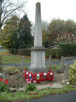 War Memorial– This is the Ockbrook and Borrowash War Memorial in Derbyshire on which George Parkin's name is commemorated.