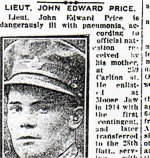 Newspaper Clipping (2)– Pte. Thomas Henry Price is mentioned in this article about his brother.