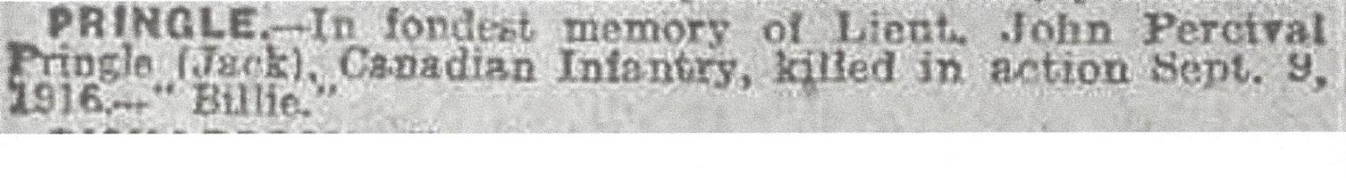 Newspaper clipping– From the Daily Telegraph of September 9, 1918. Image taken from web address of https://www.telegraph.co.uk/news/ww1-archive/12215508/Daily-Telegraph-September-9-1918.html