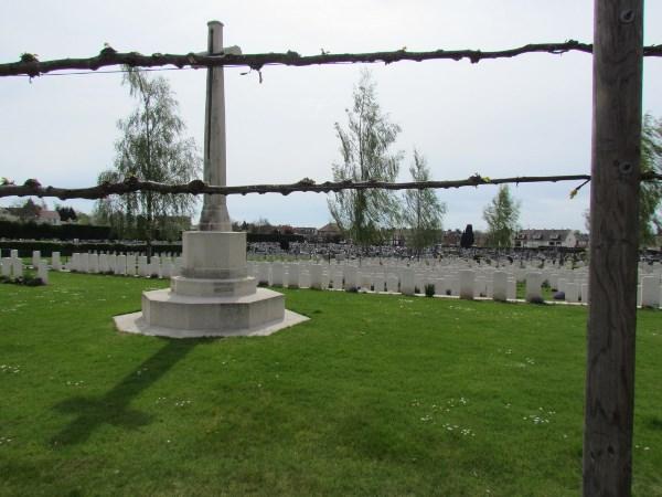 Cross of Sacrifice– Great Cross overlooking the Fallen, Albert Communal Cemetery Extension, France  Photo by Ken Riley