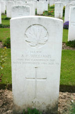 Grave marker– Photo courtesy of Wilf Schofield,