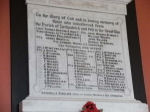 Memorial– Private Edward MOORE of the Canadians R.E. is rememberd here on a WW1 Roll of Honour situated inside the Leckpatrick (Church of Ireland) Church, about 2 miles north of Strabane, Co. Tyrone, Northern Ireland.