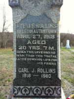 Inscription– Tombstone at Moira Cemetery (Detail) - Hwy 62 just south of Madoc, Ontario, Canada.
