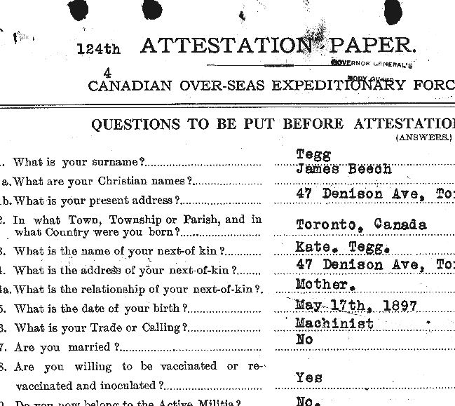 Attestation paper– Page 1.