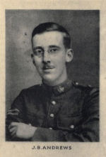Photo of Jasper Andrews– Photo from Memorial from the Great War 1914-1918: a record of service  published by the Bank of Montreal 1921; now found on http://www.archive.org/details/memorialofgreatw00bankuoft