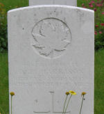 Grave Marker– Sucrerie Albain-St. Nazaire Cemetery (photo approved for use by Maple Leaf Legacy Project)