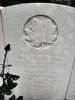 Grave Marker– The grave marker at the Givenchy-en-Gohelle Canadian Cemetery located on Vimy Ridge, walking distance from the Canadian Memorial. May he rest in peace. (K. Falconer / J. Stephens)