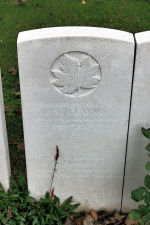 Grave Marker– The grave marker at the Givenchy-en-Gohelle Canadian Cemetery located on Vimy Ridge, walking distance from the Canadian Memorial. May he rest in peace. (J. Stephens)