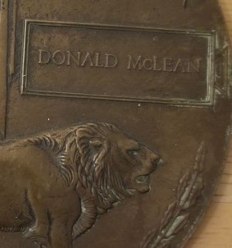 """Photo of DONALD MCLEAN– """"Death Penny"""" issued to his family."""
