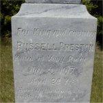 Pierre tombale commémorative – Pierre tombale commémorative au cimetière de Beulah, Beulah (Manitoba).