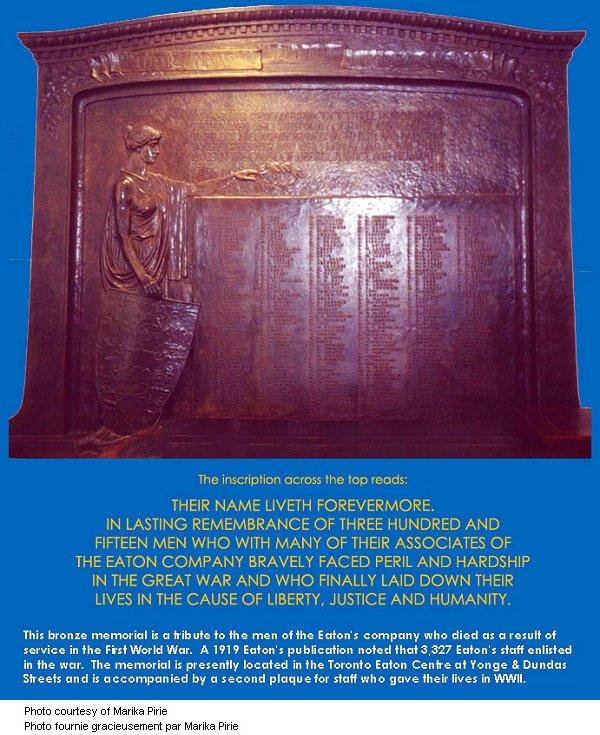 Eaton's Memorial Plaque