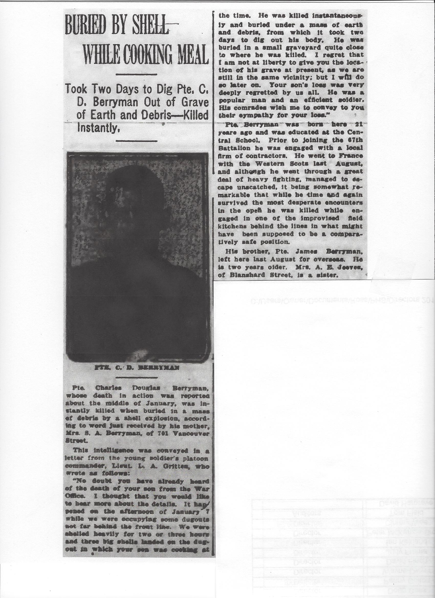 Newspaper clipping– From the Daily Colonist of March 18, 1917. Image taken from web address of http://archive.org/stream/dailycolonist59y84uvic#page/n0/mode/1up