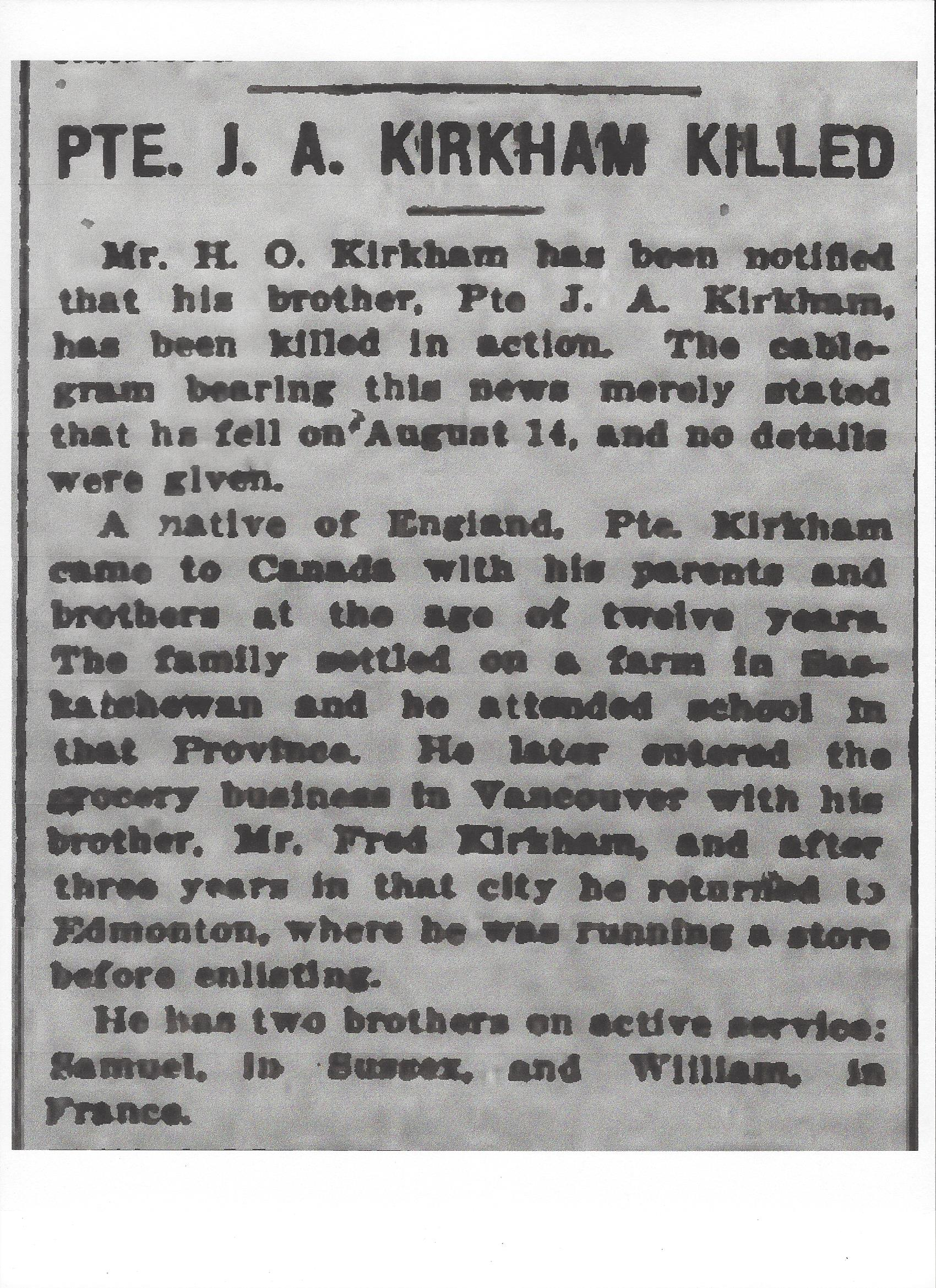 Newspaper clipping– From the Daily Colonist of September 5, 1917. Image taken from web address of http://archive.org/stream/dailycolonist59y231uvic#page/n0/mode/1up