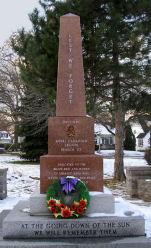 Grimsby Ontario War Memorial